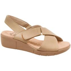 Sandália Ortopédica Feminina - Light Tan - MA585004LL - Pé Relax Sapatos Confortáveis