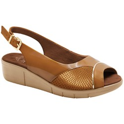 Sandália Feminina Para Joanete - Ambar - MA585013AM - Pé Relax Sapatos Confortáveis