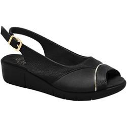 Sandália Feminina Para Joanete - Mini Relax / Lycra Preta - MA585013PT - Pé Relax Sapatos Confortáveis