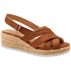 Sandália Anabela Comfort - Marrom - MA828007MR - Pé Relax Sapatos Confortáveis