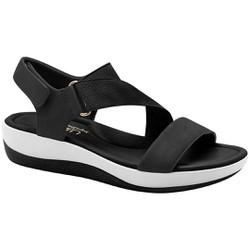 Sandália Feminina para Esporão - Preta - MA832005PT - Pé Relax Sapatos Confortáveis