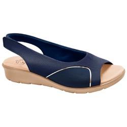 Sandália para Joanete - Mini Relax Eclipse / Lycra Azul - MA10073AZ - Pé Relax Sapatos Confortáveis