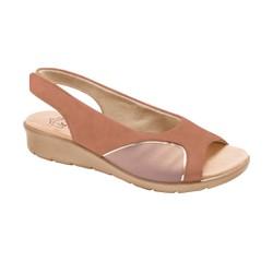 Sandália para Joanete - Fenice Antique / Lycra New Avelã - MA10073R - Pé Relax Sapatos Confortáveis