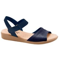 Sandália Feminina Anatômica - New Indiana Azul Verniz - MA14018AZ - Pé Relax Sapatos Confortáveis