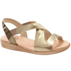 Sandália de Festa para Senhoras - Light Gold - MA14034PGO - Pé Relax Sapatos Confortáveis