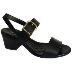 Sandália Confortável - Preta - MA176072PT - Pé Relax Sapatos Confortáveis