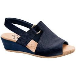 Sandália Comfort - Azul - MA206051EC - Pé Relax Sapatos Confortáveis