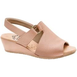 Sandália Comfort Feminina - Bistro - MA206051BI - Pé Relax Sapatos Confortáveis