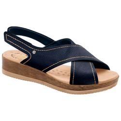 Sandália para Fascite Plantar - Azul - MA537033AZ - Pé Relax Sapatos Confortáveis