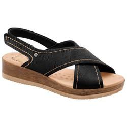 Sandália para Fascite Plantar - Preta - MA537033PT - Pé Relax Sapatos Confortáveis