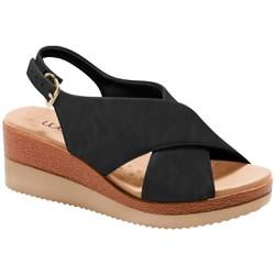 Anabela Confortável - Preta - MA581026PT - Pé Relax Sapatos Confortáveis