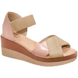 Sandália Anabela Confortável - Bistro - MA581039pB - Pé Relax Sapatos Confortáveis