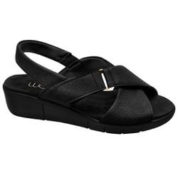 Sandália para Fascite e Esporão - Mini Relax Preta / Sola Preta - MA585004TP - Pé Relax Sapatos Confortáveis