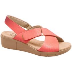 Sandália Ortopédica Feminina - Coral - MA585004CO - Pé Relax Sapatos Confortáveis