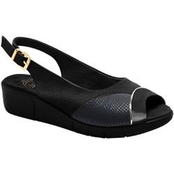 Sandália Feminina Para Joanete - Mini Relax / Lycra Snake Preta - MA585013PT - Pé Relax Sapatos Confortáveis