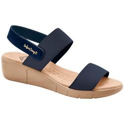 Sandália Ortopédica Feminina - Azul - MA585030AZ - Pé Relax Sapatos Confortáveis