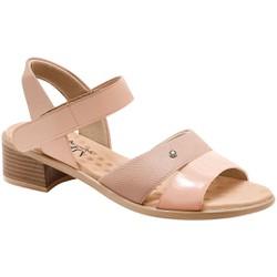 Sandália Salto Baixo - Velvet / Bistrô - MA818008PL - Pé Relax Sapatos Confortáveis