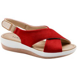 Sandália Ortopédica - Fenice Jambo / Vermelha - MA832002VM - Pé Relax Sapatos Confortáveis