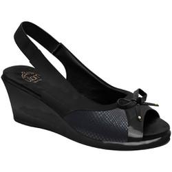 Sandália Anabela para Joanete - Preta - MA86421PPA - Pé Relax Sapatos Confortáveis