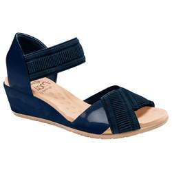 Sandália Anabela Comfort - Azul - MA206045A - Pé Relax Sapatos Confortáveis