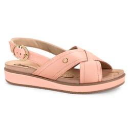 Sandália Anabela Confortável - Peach - CAL6963PE - Pé Relax Sapatos Confortáveis