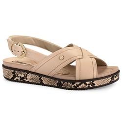 Sandália Anabela Confortável - Light - CAL6963L - Pé Relax Sapatos Confortáveis