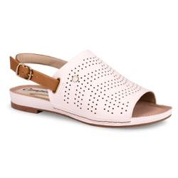 Sandália Fechada Solado Baixo - Snow - CAL6993SN - Pé Relax Sapatos Confortáveis