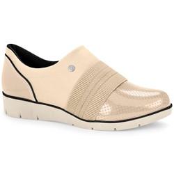 Sapato Casual Feminino - Fibra - CAL6554FI - Pé Relax Sapatos Confortáveis