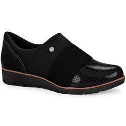 Sapato Casual Feminino - Preto - CAL6554PT - Pé Relax Sapatos Confortáveis