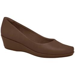 Sapato Feminino para Esporão de Calcâneo - Madeira - PI143133MA - Pé Relax Sapatos Confortáveis