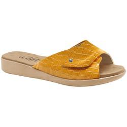 Tamanco com Velcro Fascite E Esporão - Croco Capri Solar - MA14052CCS - Pé Relax Sapatos Confortáveis