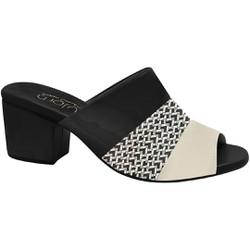 Tamanco Mule Confort - Porcelana Preto / Branco - MA176074FPB - Pé Relax Sapatos Confortáveis