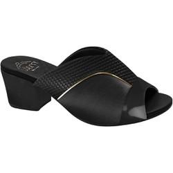 Tamanco Mule para Joanete - Nassau / Snake Preto - MA176084 - Pé Relax Sapatos Confortáveis