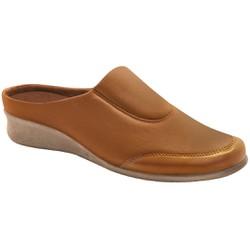 Babuche Feminino para Joanete E Fascite - Camel - MA302008AM - Pé Relax Sapatos Confortáveis