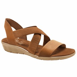 Sandália Anatômica Feminina - Caramelo - MA10062CO - Pé Relax Sapatos Confortáveis