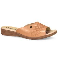Tamanco Feminino Confort - Follow Peach - CAL6811DN - Pé Relax Sapatos Confortáveis