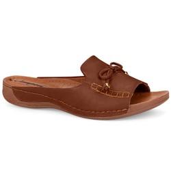 Tamanco Anatômico Esporão e Fascite - Brown - CAL6831BR - Pé Relax Sapatos Confortáveis
