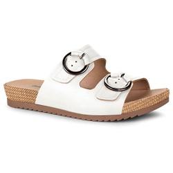 Birken Feminina Confortável - Branco - DAZ5851BR - Pé Relax Sapatos Confortáveis