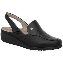Babuche com Velcro Esporão e Joanete - Preto - PI117060PT - Pé Relax Sapatos Confortáveis