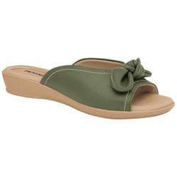 Tamanco Fascite e Esporão - Oliva - PI500254OLVA - Pé Relax Sapatos Confortáveis