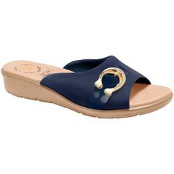 Tamanco Esporão Feminino - Azul - MA10074AZ - Pé Relax Sapatos Confortáveis