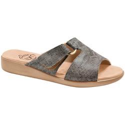 Tamanco Ortopédico Feminino - Python Marfim / Preto - MA14042PMP - Pé Relax Sapatos Confortáveis