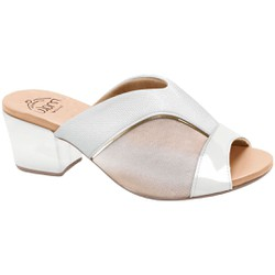 Tamanco Mule para Joanete - Branco - MA176084AZ - Pé Relax Sapatos Confortáveis