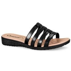 Tamanco Feminino Confortável - Preto - CAL6815PT - Pé Relax Sapatos Confortáveis