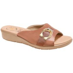 Tamanco Esporão Feminino - Bege - MA10074BE - Pé Relax Sapatos Confortáveis