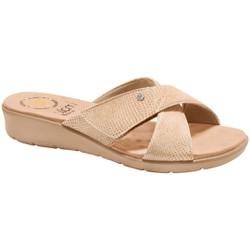 Tamanco para Pés Largos e Esporão - Lezard Bege - MA10075CB - Pé Relax Sapatos Confortáveis