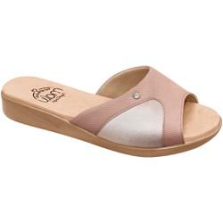 Tamanco Joanete e Esporão - Bistro Bege - MA14039BI - Pé Relax Sapatos Confortáveis