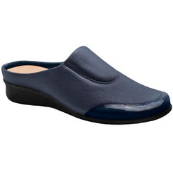 Babuche Feminino para Joanete e Esporão - Azul - MA302008AZ - Pé Relax Sapatos Confortáveis