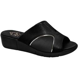 Tamanco para Joanete - Cobra Black Sola Preta - MA585018PT - Pé Relax Sapatos Confortáveis