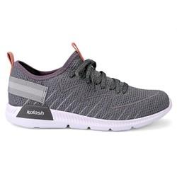 Tênis Feminino para Caminhada - Grey - KOK8483GR - Pé Relax Sapatos Confortáveis